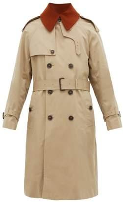 MACKINTOSH Corduroy Collar Cotton Gabardine Trench Coat - Mens - Beige