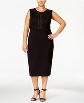 MBLM by Tess Holliday Trendy Plus Size Studded Midi Dress