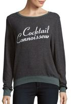 Wildfox Couture Roundneck Message Printed Pullover