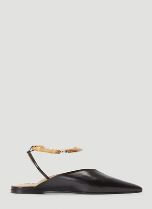 Jil Sander Ankle Strap Slingback Flat Shoes