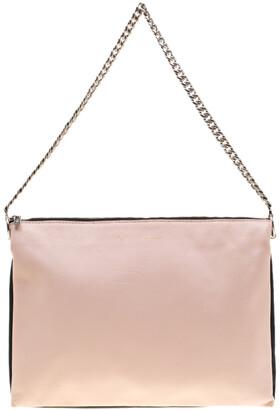 Celine Tri Color Soft Leather Trio Zip Chain Clutch