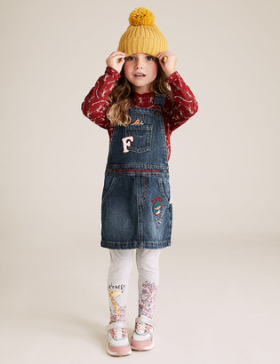 Marks and Spencer Roald Dahl & NHM Fox Pinafore Outfit (2-7 Years)