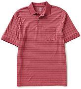 Roundtree & Yorke TravelSmart Stripe Short-Sleeve Pocket Polo