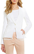 Antonio Melani Molly Stretch Linen Chiffon Detail Jacket