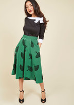 ModCloth B. Jones Style Midi Skirt in Pine in 2X