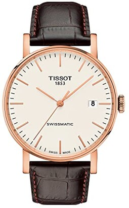Tissot Everytime Swissmatic - T1094073603100 (Silver/Brown) Watches