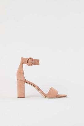 H&M Suede Sandals - Orange