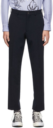 Comme des Garçons Homme Deux Navy Yarn Twill Trousers
