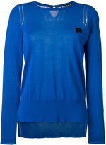 Rochas logo embroidered knitted sweater - women - Cotton - 38