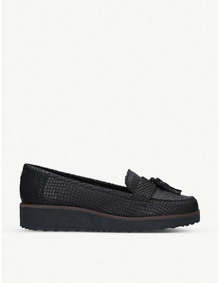 Carvela Maestro tassel-embellished leather flatform loafers