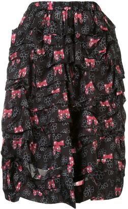 COMME DES GARÇONS GIRL Bow Print Skirt