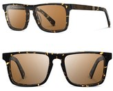 Shwood Men's 'Govy 2' 52Mm Polarized Sunglasses - Darkspeckle/ Elm/ Brown