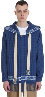 Loewe Casual Jacket In Blue Cotton
