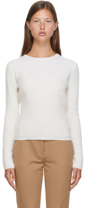 Max Mara White Wool and Cashmere Pairak Sweater