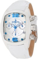 Invicta Women's Lupah Revolution Chronograph Dial White Leather Watch 10233