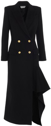 Alexander McQueen Double-Breasted Draped Coat