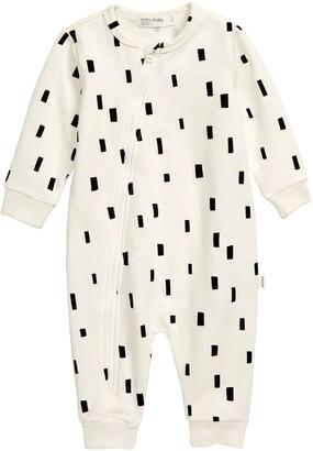 miles baby Asymmetrical Zip Romper