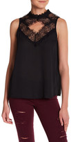 Romeo & Juliet Couture Diamond Cutout Sleeveless Blouse