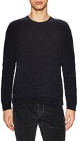 John Varvatos Waffle Knit Crewneck Sweater