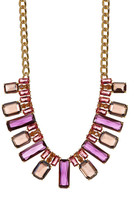Carolee Nassau Nights Facted Stone Collar Necklace