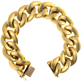 Ice 20.8 mm High Polished 18K Gold Cable Hollow Chain Bracelet