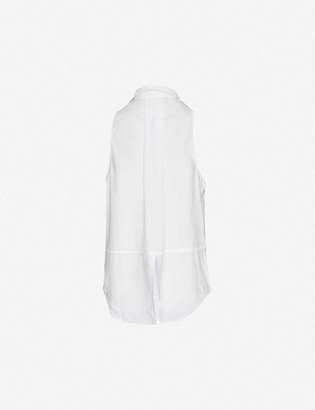Bella Dahl Sleeveless split-back woven shirt
