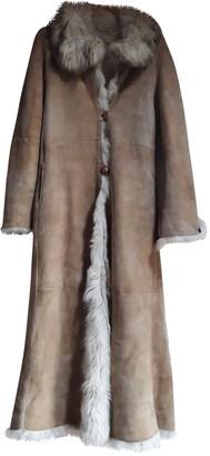 Annabella Pavia Beige Suede Coat for Women