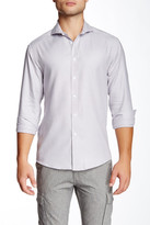 Vince Camuto Lotus Grid Long Sleeve Slim Fit Shirt