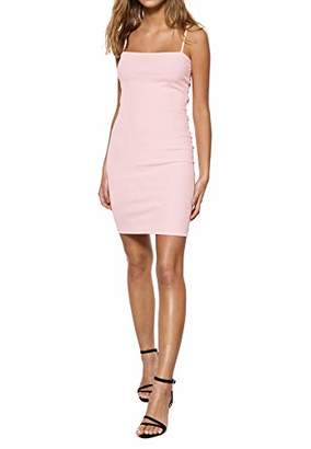 IVYREVEL Women's Square Neck Strap Dress Light Pink 358), (Size:M)