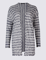 M&S Collection Striped Waterfall Cardigan