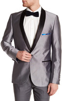 Paisley & Gray Silver Single Button Shawl Collar Tuxedo Jacket