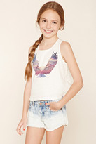 Forever 21 FOREVER 21+ Girls Eagle Graphic Top (Kids)