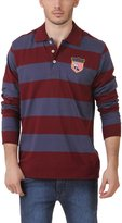 American Crew Polo Collar Stripes With Badge T-Shirt - XXL (AC089BFS-XXL)