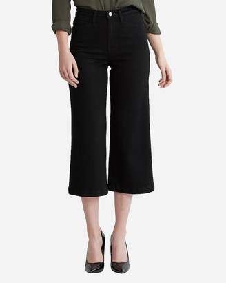 Express Flying Monkey Super High Waisted Cropped Wide Leg Jeans