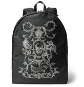 Alexander McQueen Leather-trimmed Printed Canvas Backpack - Black