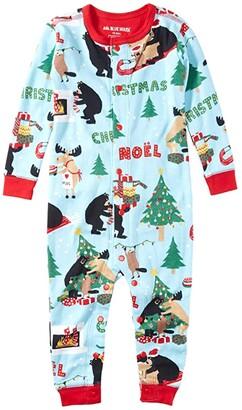 Little Blue House by Hatley Kids Wild About Christmas Union Suit (Infant) (Blue) Kid's Jumpsuit & Rompers One Piece