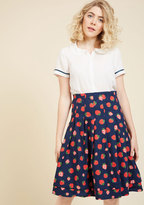 ModCloth Before My Berry Eyes Midi Skirt in XS