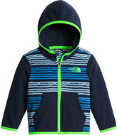 The North Face Glacier Digital Stripe Hooded Micro-Fleece Jacket, Blue, Size 3-24 Months