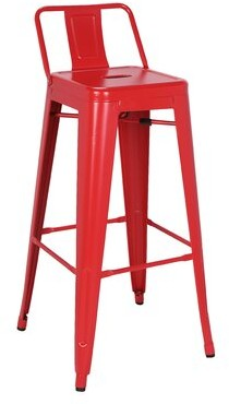 "Williston Forge Syrna Metal Low Back 30"" Bar Stool (Set of 4 Color: Frosted Red"
