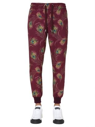 Dolce & Gabbana Peacock Print Track Pants