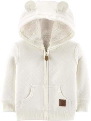 Simple Joys by Carter's Baby Neutral Hooded Sweater Jacket with Sherpa Lining