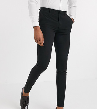 ASOS DESIGN Tall super skinny suit trousers in four way stretch in black