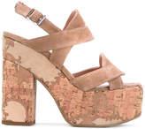 Twin-Set crossover strap platform sandals