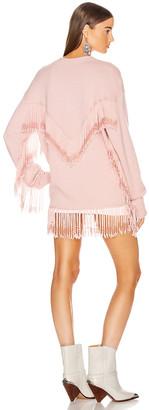 JoosTricot Beaded Fringe Cardigan in Chalk Pink Twist | FWRD