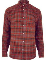 River Island MensRed check flannel shirt