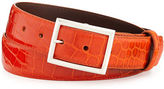 W.KLEINBERG W. Kleinberg Glazed Alligator Belt with Sterling Silver Buckle (Made to Order)