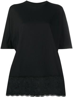 Simone Rocha lace-trim T-shirt