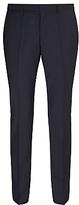 Hugo Boss Hugo By Hugo Boss Huge/genius Virgin Wool Slim Fit Suit Trousers, Dark Blue
