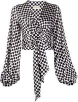 Alexandre Vauthier polka-dot wrap blouse