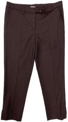 Miu Miu Burgundy Wool Trousers